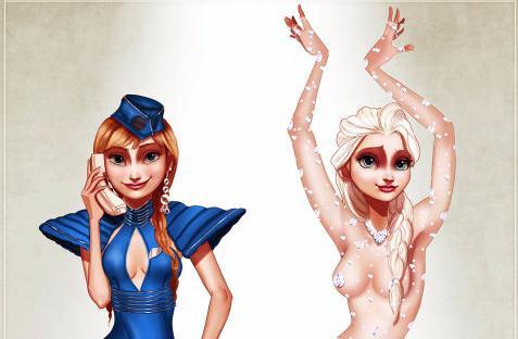 Cartoon porno principesse Disney
