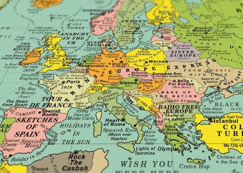 Mappa Mondo Cartina.Un Mondo Di Musica Ecco La Bellissima Mappa Con Le Canzoni Che