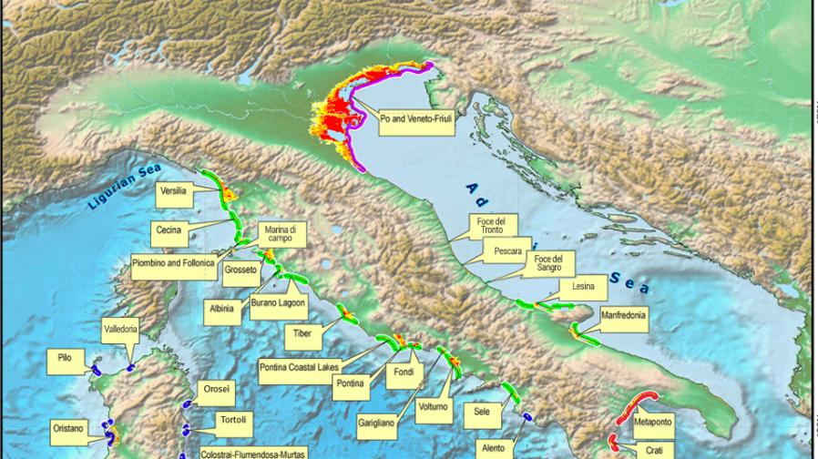 Cartina Italia 20000 Anni Fa.Ecco Come Potrebbe Essere L Italia Nel 2100 La Mappa Che Preoccupa Tutti Radio 105
