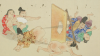 """Scoperta in Giappone la pergamena che raffigura una """"gara di peti"""""""
