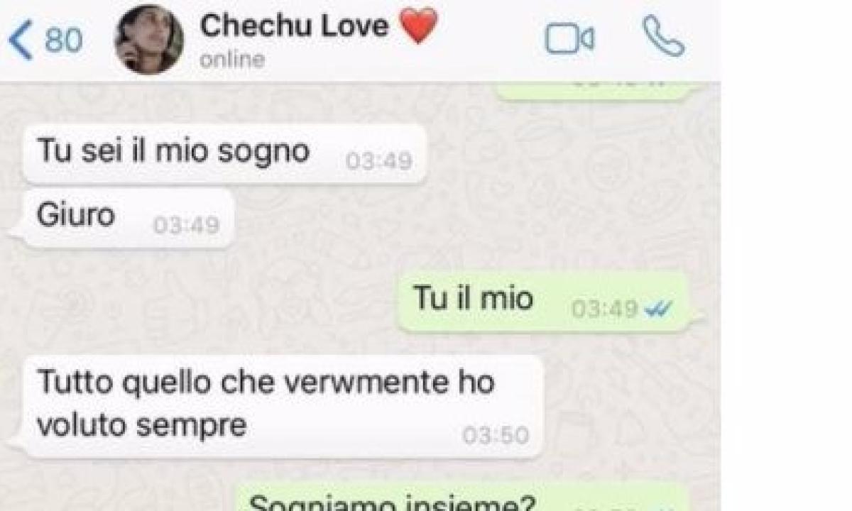 Uno Screenshot Svela I Dolci Messaggi Tra Cecilia E Ignazio Radio 105