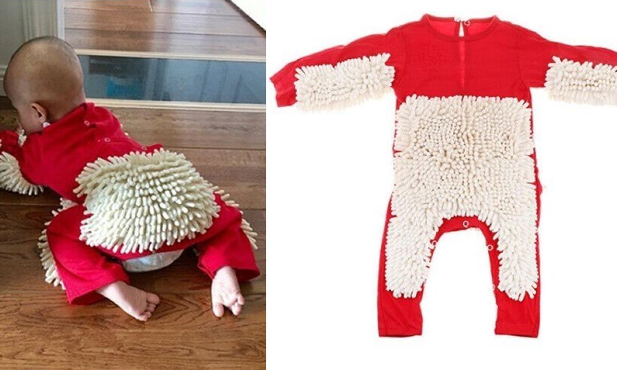 Quando Inizia A Gattonare Neonato la geniale tutina per neonati per pulire il pavimento