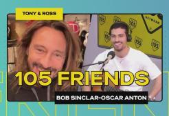 Oscar Anton live a 105 Friends con Bob Sinclar