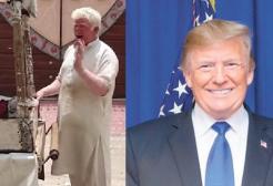 Trump ha un sosia: un albino pakistano che vende gelati