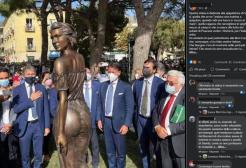 Polemiche sulla nuova statua della Spigolatrice di Sapri: è sessista