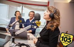 Cristina D'Avena e Francesco Sarcina: tanti auguri 105!