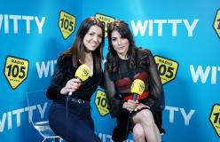 Giulia Michelini con Ylenia nel backstage di Amici 17