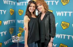 Fiorella Mannoia con Ylenia nel backstage di Amici 17
