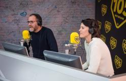 Valerio Mastrandrea e Chiara Martegiani, guarda le foto dell'intervista a 105 Friends