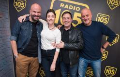 """Claudio Bisio e Sarah Felberbaum a 105 Friends per presentare il film """"Bentornato Presidente!"""": le foto dell'intervista"""