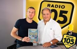 Paolo Condò a 105 Mi Casa per presentare il libro La storia del calcio in 50 ritratti