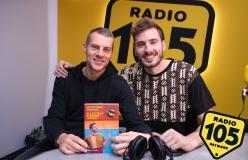 """Matteo Piano a 105 Mi Casa per presentare il libro """"Io, il centrale e i pensieri laterali"""""""