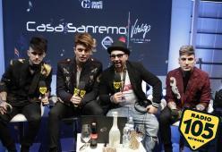 Sanremo 2018, i The Kolors con Alan Caligiuri a Casa Sanremo: le foto