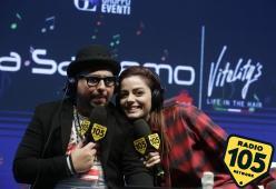 Sanremo 2018, Annalisa con Alan Caligiuri a Casa Sanremo: le foto