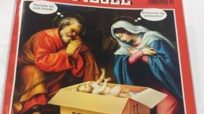 Gesù bambino arriva in un pacco Amazon