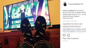 """Il Sanremo di Francesco Gabbani? Da """"divanista"""" davanti alla tv"""