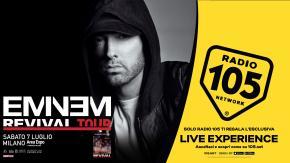 """Regolamento: """"VIVI UN'ESCLUSIVA LIVE EXPERIENCE AL CONCERTO DI EMINEM CON RADIO 105"""""""
