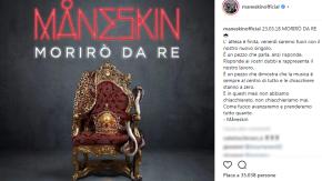 """Måneskin: in arrivo """"Morirò da re"""", canzone contro gli hater"""