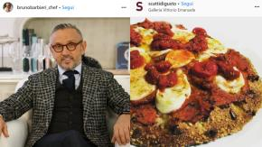 """Bruno Barbieri difende la pizza di Cracco: """"È molto buona"""""""