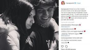 Il dolce messaggio di Laura Pausini per il compagno Paolo Carta
