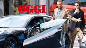 """Lapo Elkann distrugge la sua Ferrari """"personalizzata"""" da fermo: non ha guardato dallo specchietto…"""