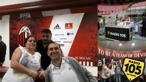 105 Giornata Rossonera: i vincitori del nostro concorso a San Siro con i giocatori del Milan