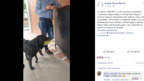 """In Colombia c'è un cane che """"paga"""" i suoi biscotti al bar"""