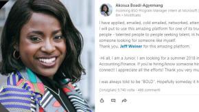Studentessa scrive un post virale su LinkedIn e ottiene un tirocinio in Microsoft