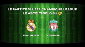 Champions League: la finale Real Madrid - Liverpool in diretta su Radio 105