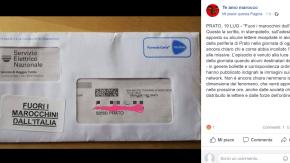 """Bollette con slogan razzisti a Prato: """"Fuori i marocchini dall'Italia"""""""