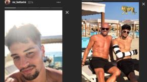Niccolò Bettarini: dopo l'aggressione, torna a sorridere. Le foto in spiaggia con il papà