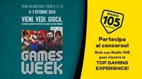"""Regolamento: """"SOLO CON RADIO 105 VIVI LA TOP GAMING EXPERIENCE A MGW18"""""""