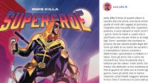 """Emis Killa svela la copertina del suo nuovo album: """"Supereroe"""""""
