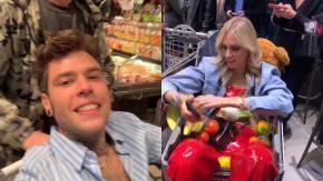 """Fedez, Chiara Ferragni gli organizza una festa a sorpresa in un supermercato. Scatta l'ira sui social: """"Quanto cibo sprecato"""""""
