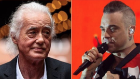Robbie Williams tormente Jimmy Page con la musica a tutto volume