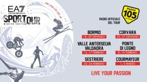 Radio 105 è media partner dell'Emporio Armani Sportour Winter Edition
