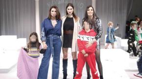 Belen, Melissa Satta, Claudia Galanti ed Elisabetta Gregoraci sfilano a Firenze insieme ai loro bimbi