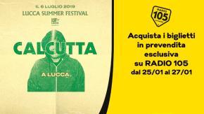 Calcutta live al Lucca Summer Festival la prossima estate. I biglietti in prevendita esclusiva su Radio 105