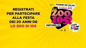 Arriva la Festa dei 20 anni de Lo Zoo di 105: ecco come partecipare