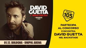Partecipa al concorso e potresti incontrare David Guetta nel backstage !