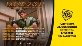 Partecipa al concorso e potresti incontrare Rkomi nel backstage !