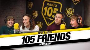 """I Maneskin a 105 Friends: """"la nostra vita e' cambiata molto, siamo noi che siamo rimasti gli stessi"""""""