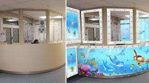 Un artista italiano dipinge murales per colorare le stanze degli ospedali
