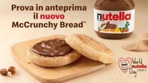 """Breve storia del """"World Nutella Day®"""": dal primo post nel 2007 all'anteprima di McCrunchy Bread con NUTELLA®, oggi da McDonald's!"""