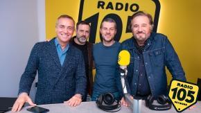 """Christian De Sica, Fausto Brizzi e Massimo Ghini a 105 Mi Casa per presentare il film """"La mia banda suona il pop"""""""