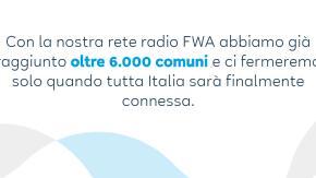 Iniziative concrete con azzerare il digital divide: 7500 comuni connessi in FWA in 18 mesi. Il progetto di Eolo.