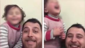 Questo papà siriano ha inventato un gioco per aiutare la sua bimba a superare la paura dei bombardamenti