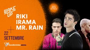 """Al """"WAKE UP"""" il 22 settembre un live unico in Italia: Riki, Irama e Mr Rain!"""
