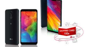 In cerca di idee per Natale? Acquista uno del modelli dual-sim LG G7 FIT o LG Q7, in regalo una shopping card da 100€!