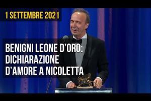 Leone d'oro alla carriera a Roberto Benigni: ecco il discorso di ringraziamento